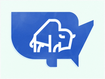 Bison 02 vector minimal flat bison illustration branding design animals icon logo