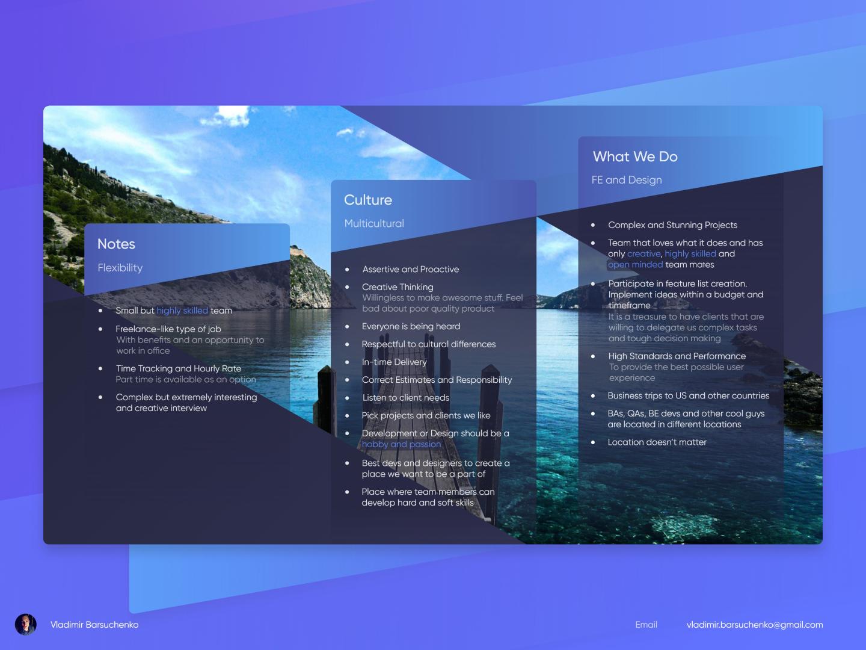 Presentation Concept presentation design culture adobexd figma design branding web design ux ui