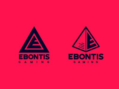 Logo Ebontis Gaming illustration icon e gamer gaming branding logo