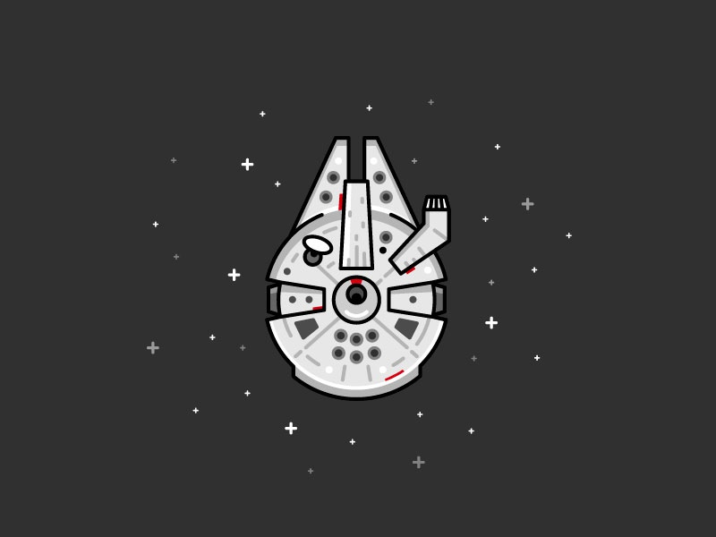 star wars millennium falcon by thomas bredesen on dribbble  dribbble