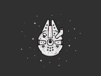 Star Wars Millennium Falcon ship space spacecraft illustration wars star falcon millennium