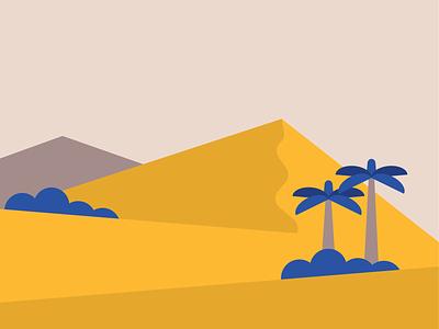 Dunes palmtree desert dunes