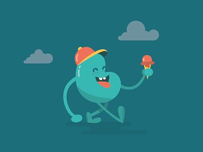 Vincent the bean peyrecave cap hello invitation invite walking monster clouds cream ice bean
