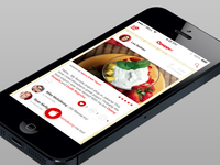 Social-Food Review Iphone App Redesign