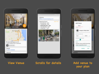 Adding a venue to your itinerary