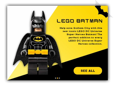 Day 28 - Toy Product Card movie lego batman card product toy challenge daily design ui