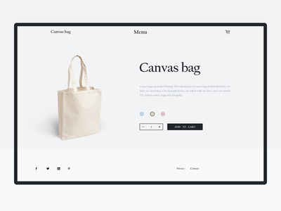 Purchase page