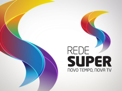Rede Super  [ 2010 ] logo brand rebrand logotype concept id tv television communication marcuscastro imaginer studio identity design brand identity branding type typography colors