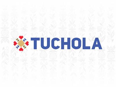 Unused Tuchola logo branding brand design colorful tradition folklore embroidery town city logo tuchola
