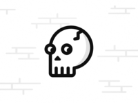Spooky, scary Skeleton - Halloween Icon