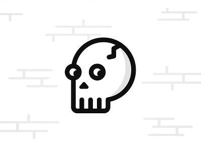 Spooky, scary Skeleton - Halloween Icon october icon illustration design pumpkin spider skull skeleton scary spooky halloween