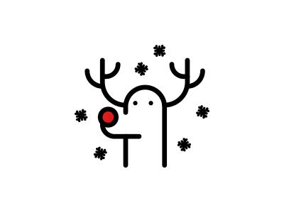 Merry Xmas - Reindeer Rudolph snow deer design rudolph illustration icon christmas xmas reindeer