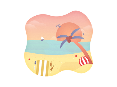 Summer vibes vibrant chill sand ocean sea water clouds sun sunset vibes summer beach