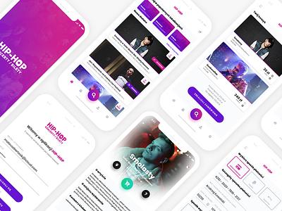 Hip-Hop Events & Tickets UI clean experience user interface design modern fluent buy ui music tickets