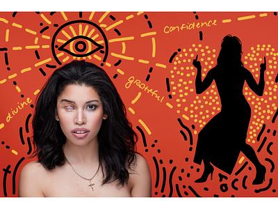 Beauty-Alt: Jessica individuality diversity collaboration portraits vector art direction photography illustration