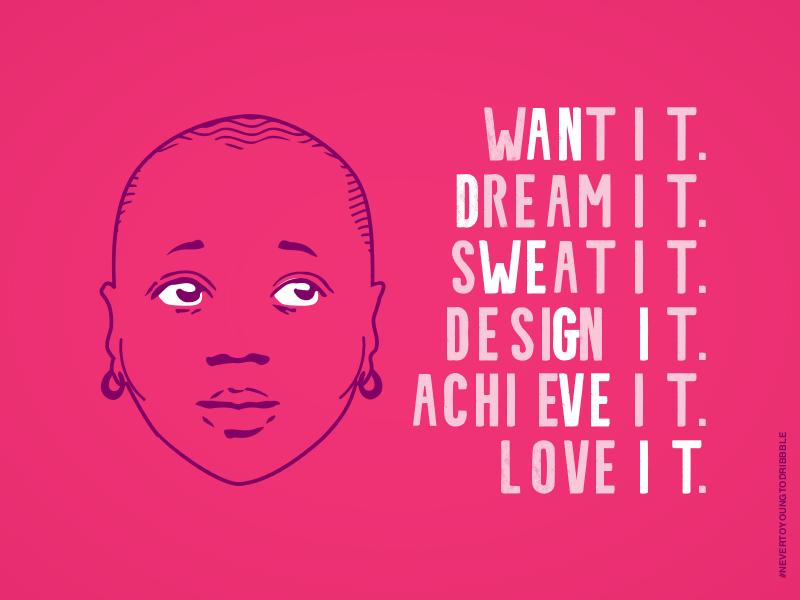 Dribbble Day Dream'n simple girl vector illustration