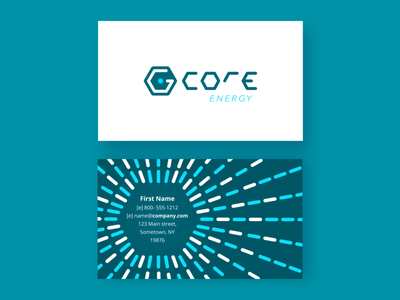 Gcore Business Cards pattern business cards tech modern logo hex energy
