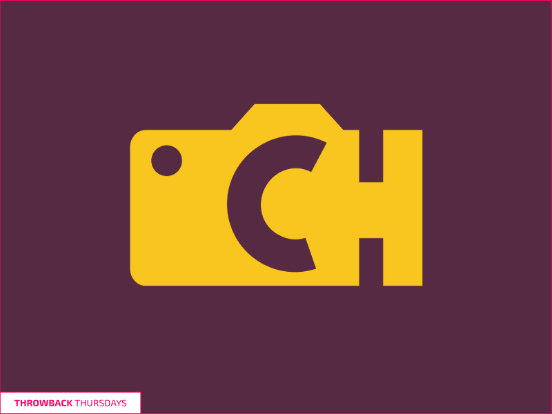Throwback Thursdays CH Logo photography yellow purple logo throwback