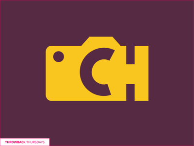 Throwback Thursdays CH Logo photography yellow purple logo throwback