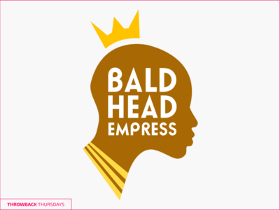 Throwback Thurdays Baldhead crown african bald head throwback logo