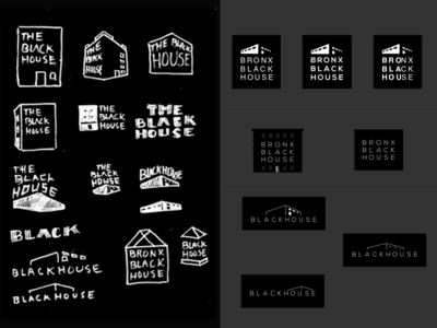 Bronx Black house Sketches sketches building house black logo