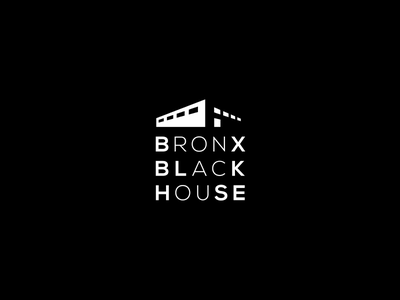 Bronx Black house Logo building house black logo