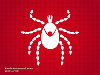 Bloodsuckers Tick stylized illustration bugs