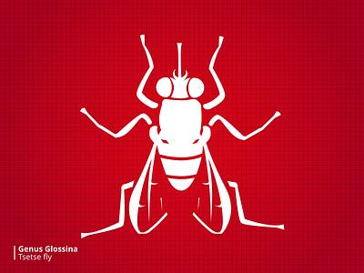 Bloodsuckers Tsetsefly stylized illustration bugs