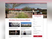 Phoenix Seminary Landing Page