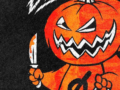 Boo! scary boo pumpkin treat trick halloween texture grain grit