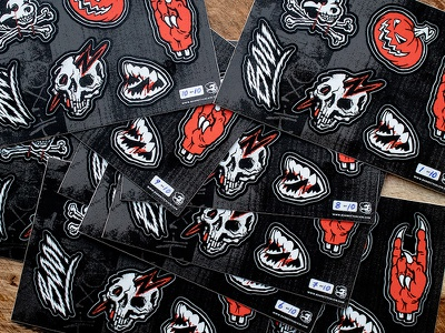 Stickers! stickers boo shop edition limited orange monster skull pumpkin halloween illustration texture