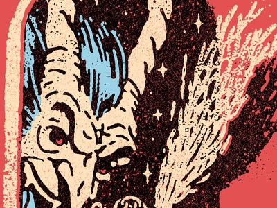 Krampus folklore christmas illustration vintage krampus texture grit