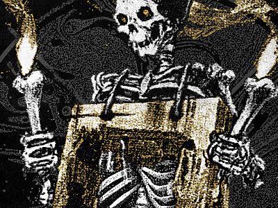 hollow flame texture torch bones skeleton
