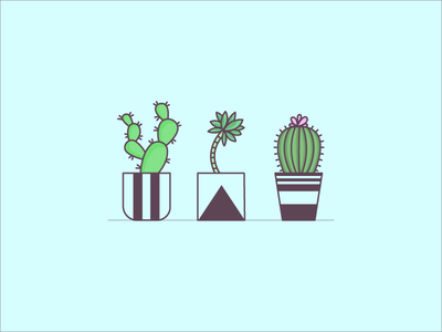 Mondays don't have to succ succulents icons plants 100 days illustration vector