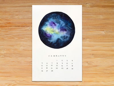 Watercolor Calendar for sale painting moon phase galaxy watercolor calendar moon