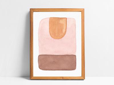 """Descent"" Watercolor descent fall neutrals minimal design desert abstract art abstract summer painting watercolor illustration"