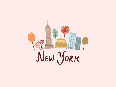 New York lettering procreate lettering procreate draw doodleart digital digital art new york city new york doodle painting illustration