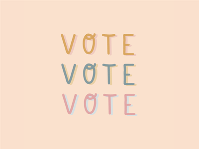 VOTE VOTE VOTE resistance resist rights government voting voter usa political politics midterms neutral type hand drawn hand lettering procreate lettering procreate ipad lettering typography illustration vote