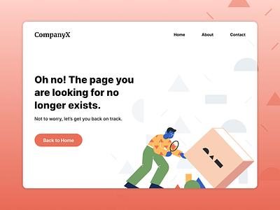 Error Page Design Challenge 100 days design typography 100daysofui challenge ui design uxui 404page 404 error visual design abstract ui ux design challenge 404 error page error