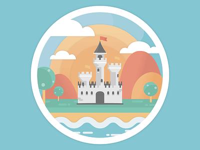 Little Castle castle vector illustration