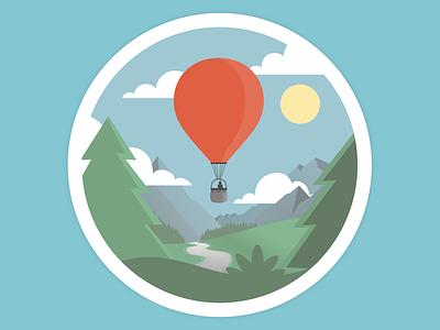 Ballooning ballooning vector illustration