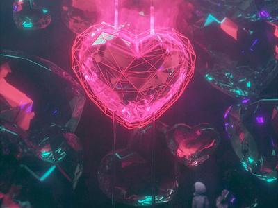 Heart of illumination 3d valentine day valentine love