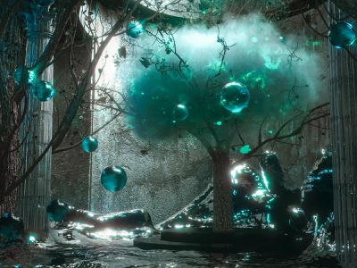 Unlikely place 3d art cinema4d search surreal abstract cover art 3d design octane 3d design