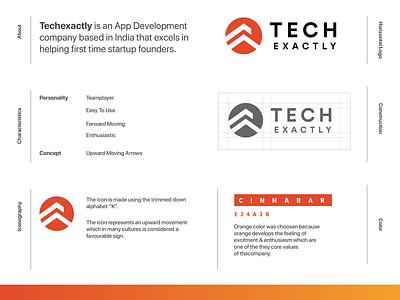 Tech Exactly Branding symbol design symbol iconography logotype logodesign identity design identity branding branding design branding and identity branding logo