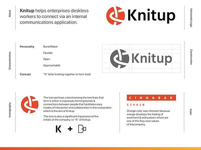 Knitup.co Brand Identity branding visual design brand identity design brand identity embelem symbol design icon design logo design logo