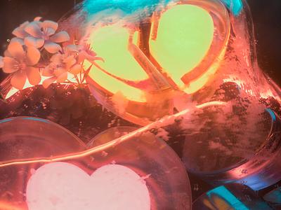 An ominous feeling posters 3d heart abstract design abstract cinema4d octanerender octane