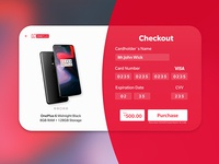 One plus 6 Checkout page #dailyUI