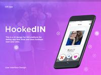 HookedIN iOS dating app UI