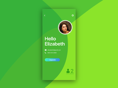 User profile UI vector userinterface green colourful minimal uiux ui user profile user interface profile user