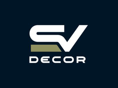 SV Decor Identity Design Logo laminates plywood decor wordmark logo design branding and identity branding logo